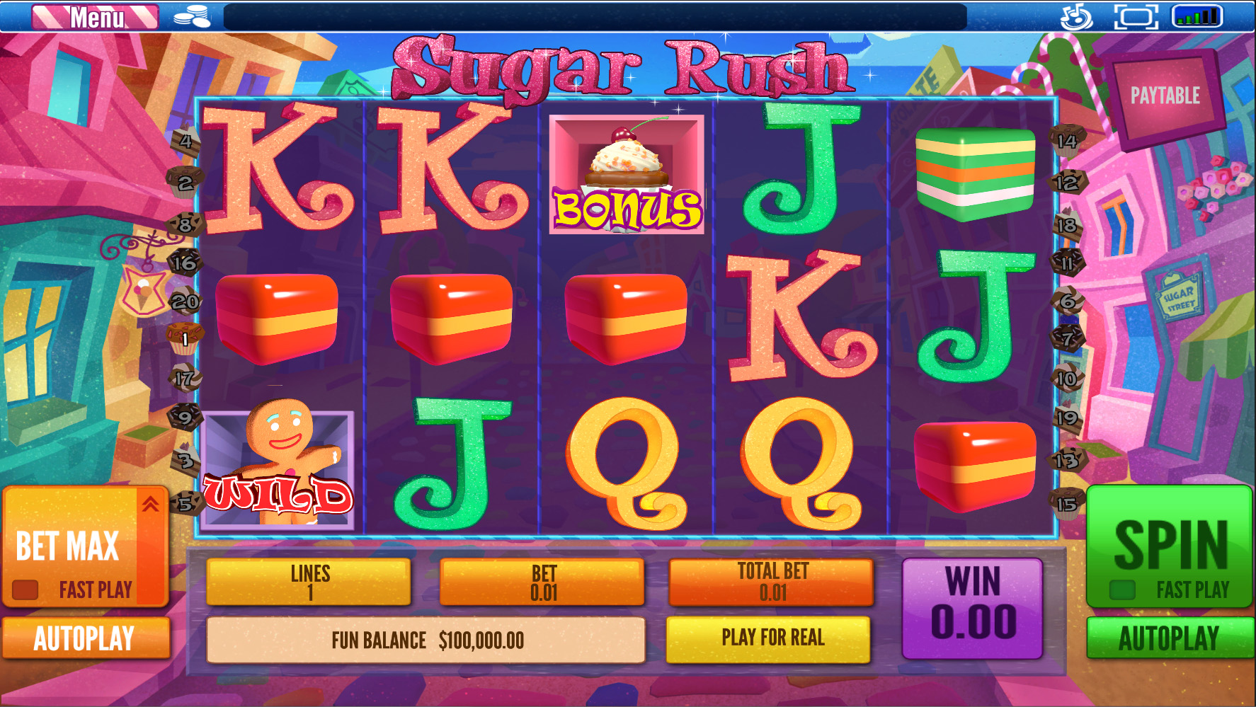 Sugar & Ice Slot Machine - Free to Play Online Casino Game