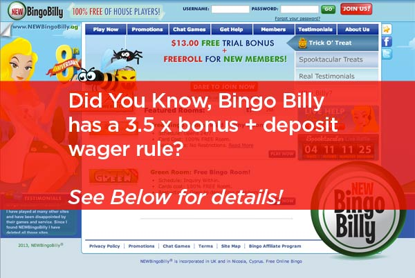 BingoBilly Login