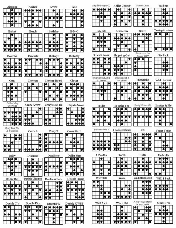 Persnickety image regarding printable bingo patterns