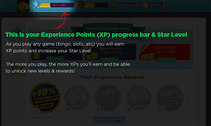 XP Points - Rewards Program BingoMania