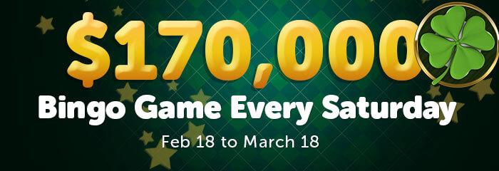 $170,000 Saturday Bingo Games