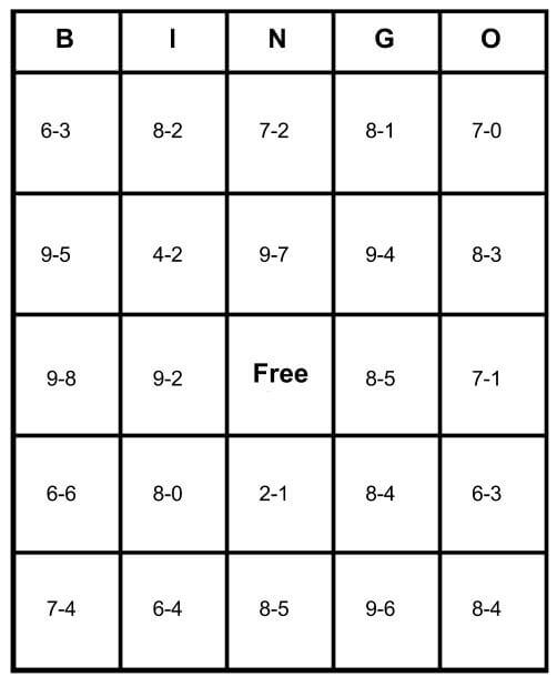 Math Bingo Free Cards Learn How To Play Print For Free